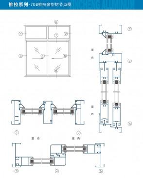 70B推拉窗型材节点图